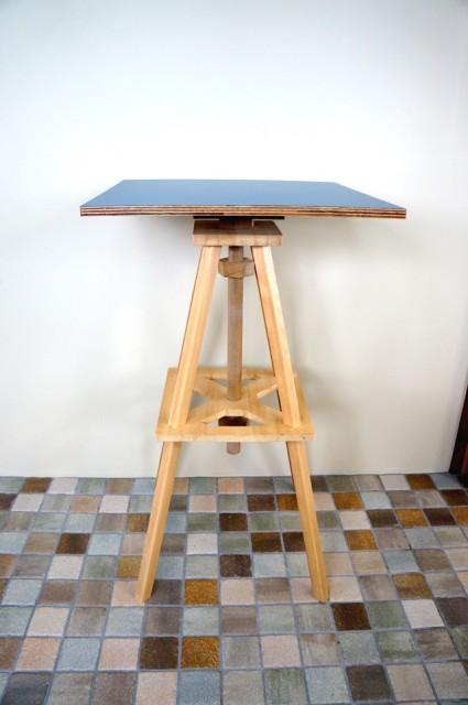 木製ハイテーブル